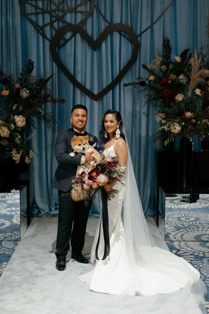 Moody Yet Bold Modern Multicultural Wedding
