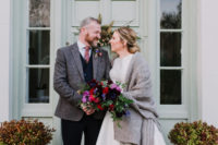 01 This couple went for a lovely intimate Christmas wedding with luxurious touches