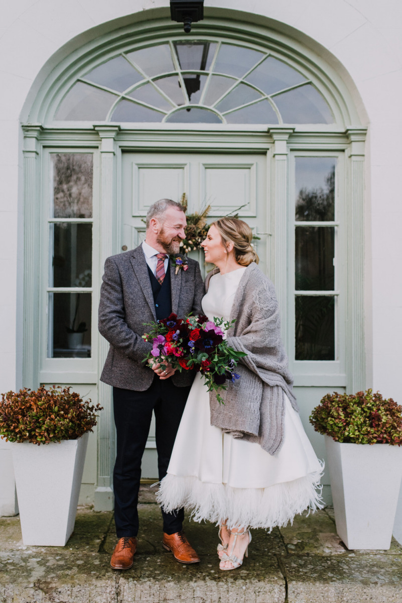 This couple went for a lovely intimate Christmas wedding with luxurious touches