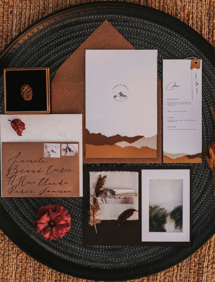 a mountains inspired wedding suite