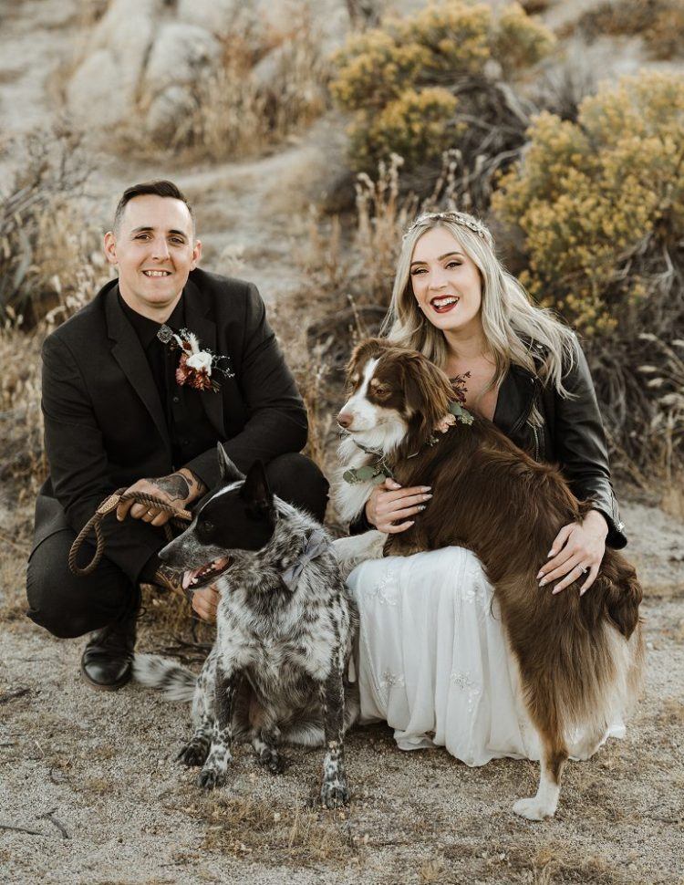 The couple's dogs took part in the wedding as a flower girl and a ring bearer