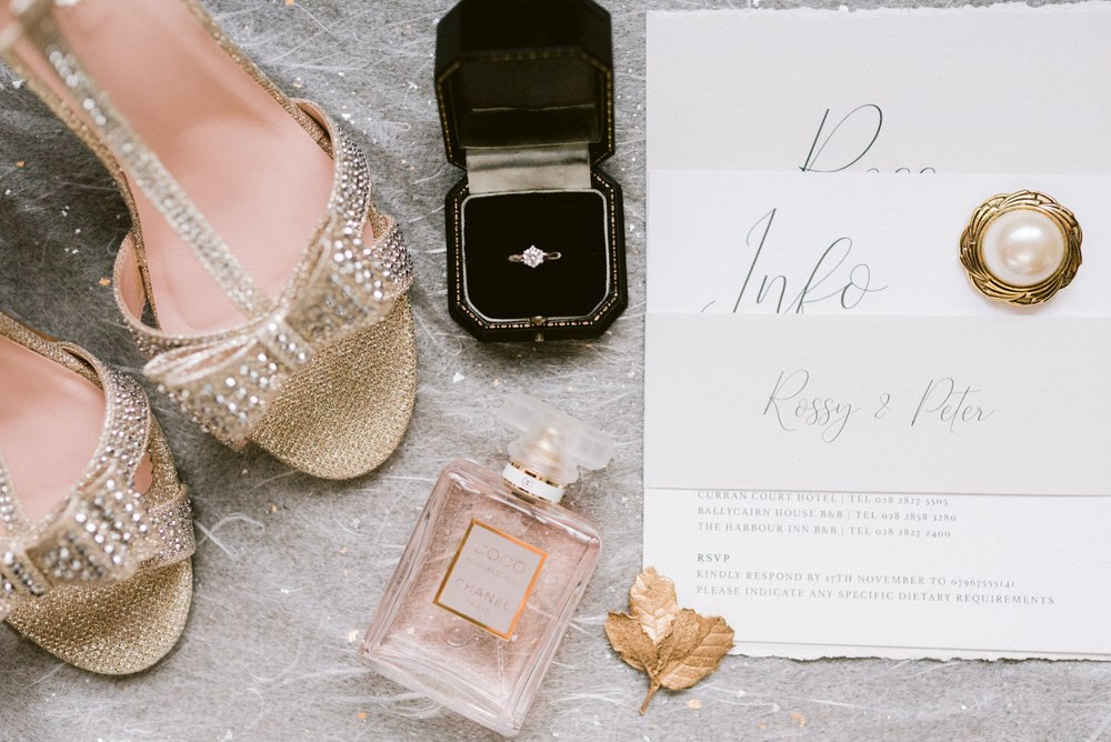 The wedding stationery was all neutral, with a raw edge and elegant printing