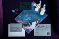 a moody wedding stationary for those who love dark tones