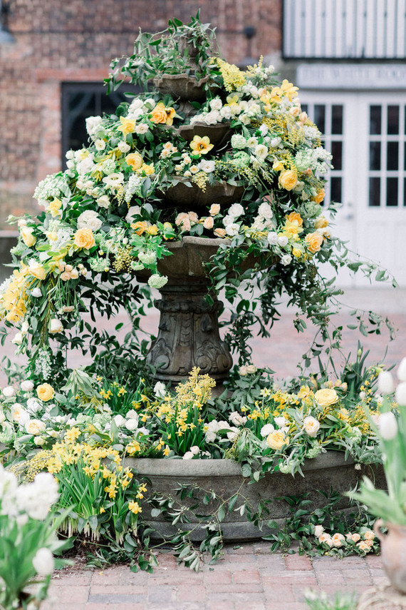 The shoot was filled with gorgeous lush blooms and greenery