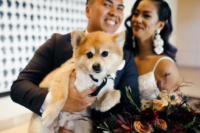 08 The couple's dog took an active part in the wedding