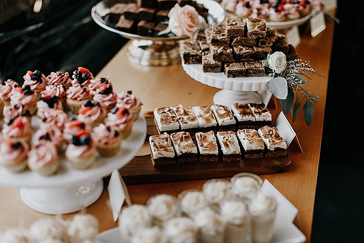 There were many delicious desserts served for the wedding
