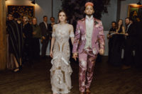 10 What a fashionable couple and what an unusual wedding