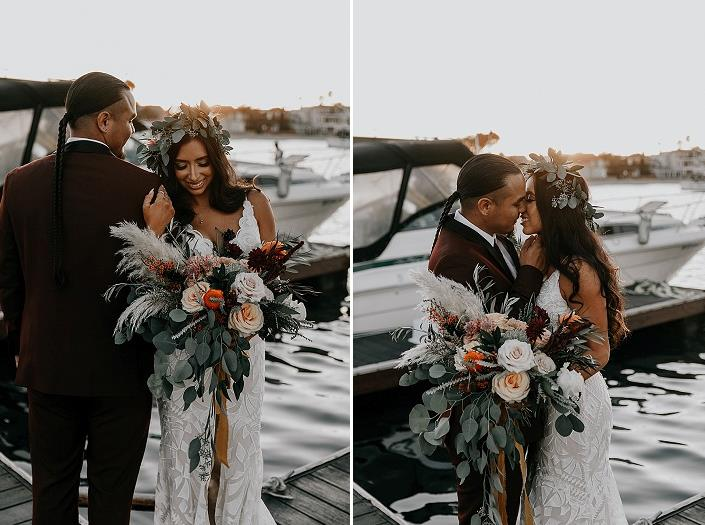 What a romantic wedding and what a gorgeous couple