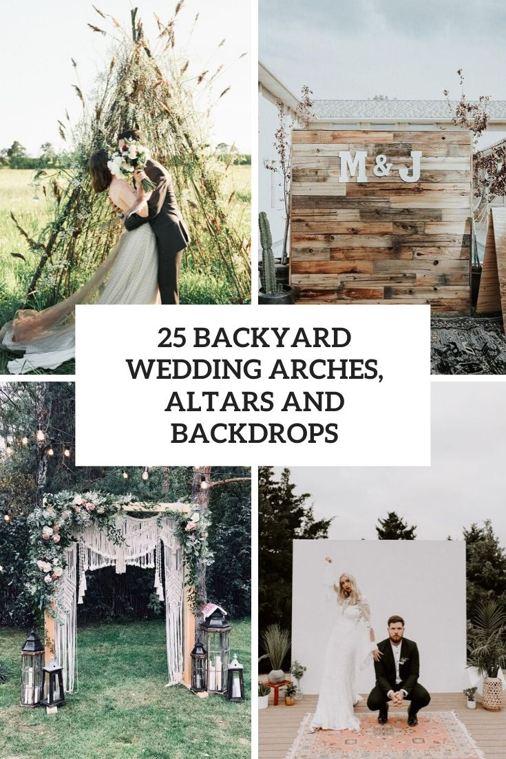 backyard wedding arches, altars and backdrops cover