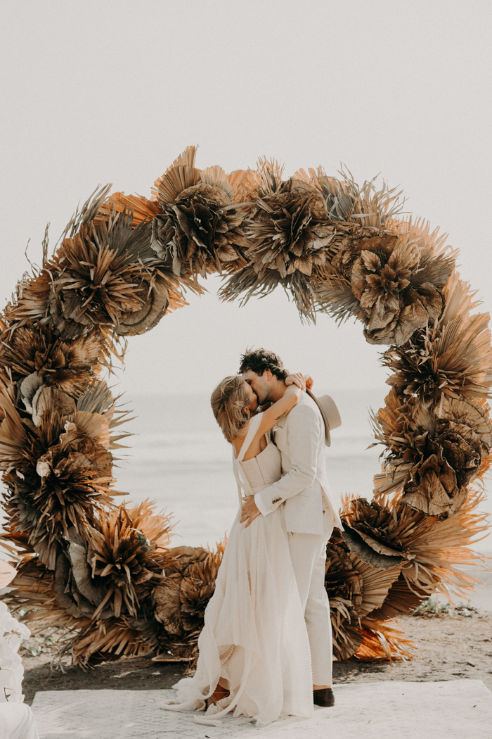 Chic All-White Bali Wedding With A Custom-Made Dress