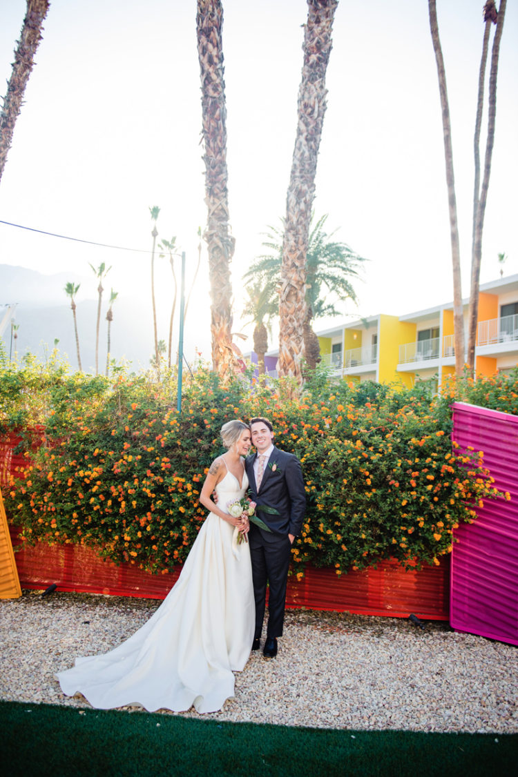 Modern Colorful Palm Springs Wedding