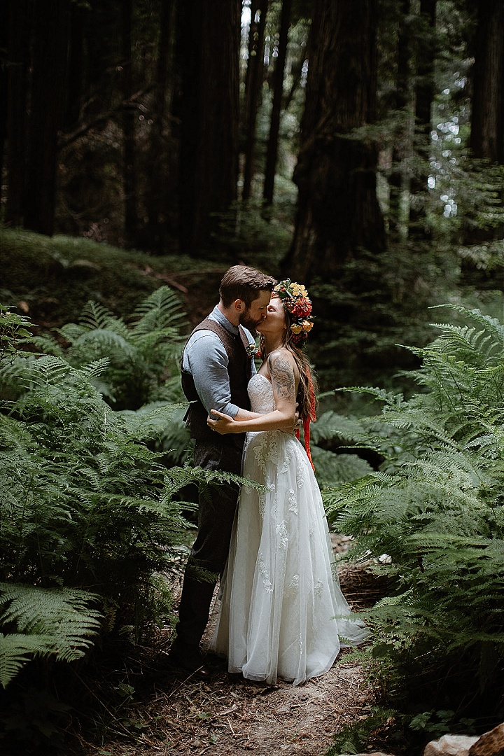 Romantic Boho Wedding In The Redwoods