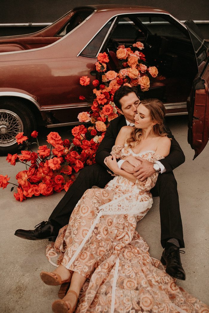 Edgy Boho Wedding Shoot In Rust Shades