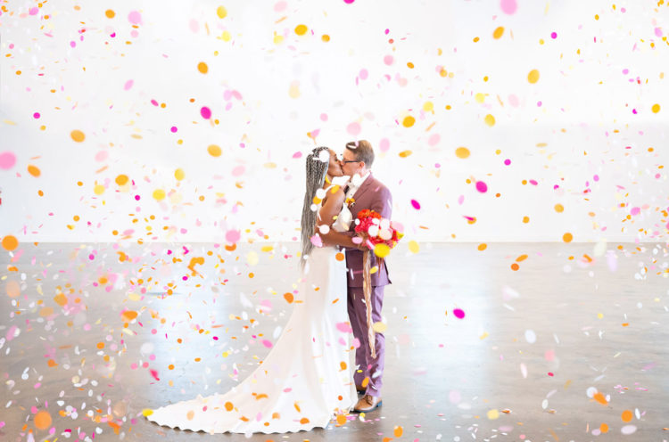 Modern Color-Blocking Wedding Shoot