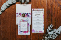 a cool colourful wedding stationary