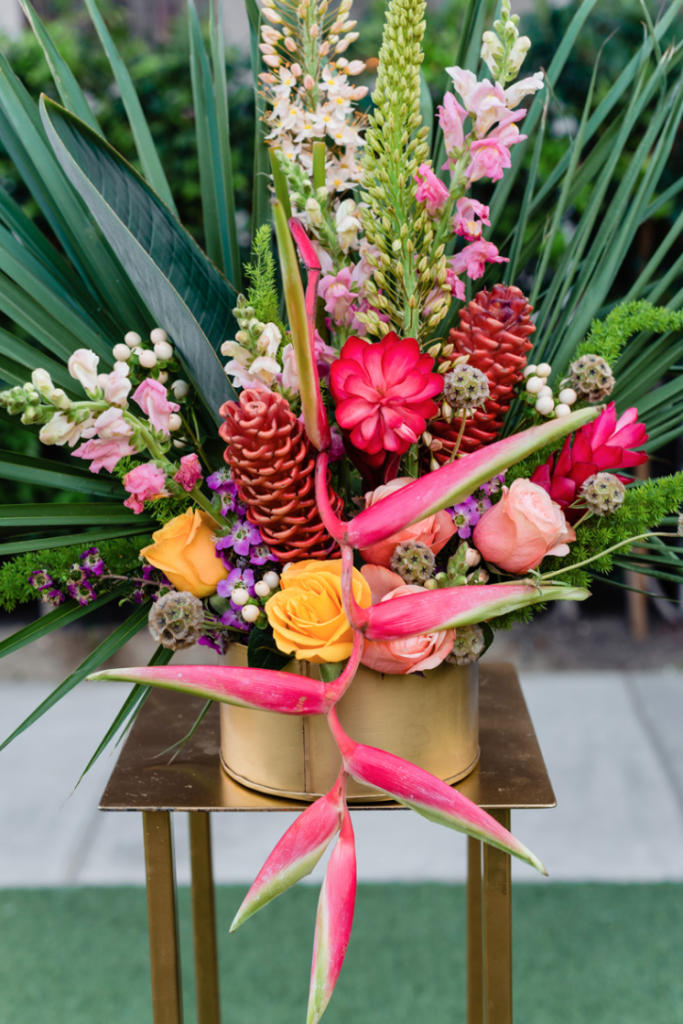 The florals were done super bold and bright with plenty of texture and tropical leaves