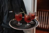 moody cocktails for a dark wedding