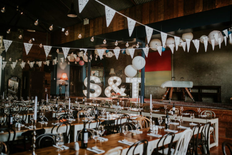 The wedding venue was perfect and whimsy enough for the couple