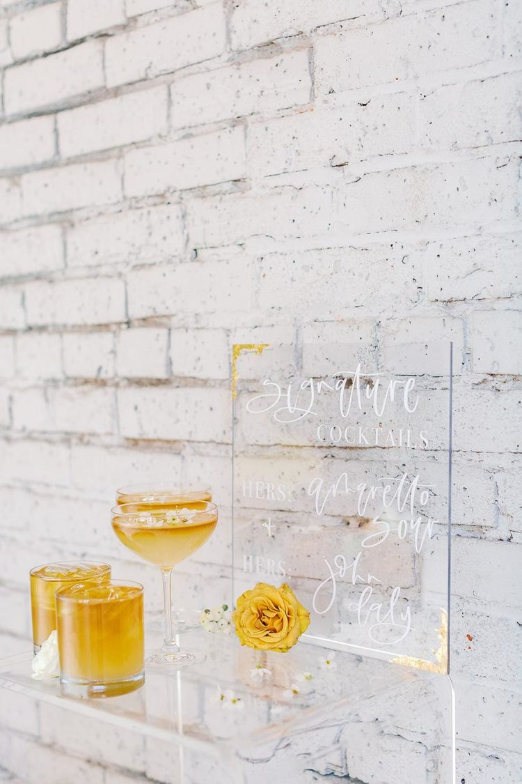 an acrylic decor is awesome addition to a modern wedding