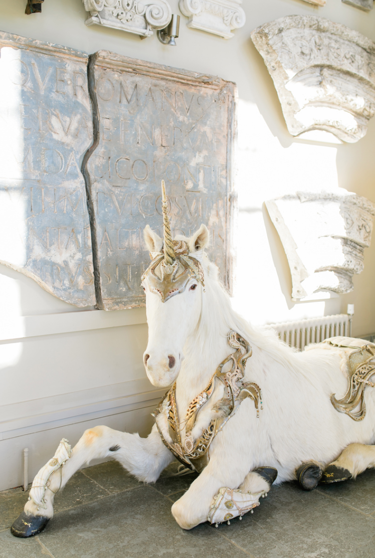 A lovely unicorn is one of the decorations, which was especially loved
