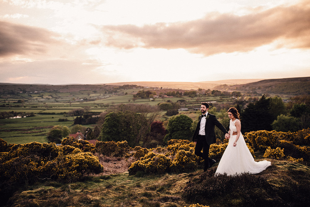 This couple went for a boho and rustic wedding at a castle