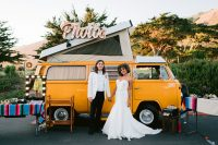 01 This couple went for a nature-inspired boho chic meets black tie wedding