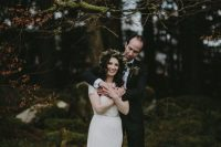 01 This cozy and elegant winter wedding took place at Markree Castle and was done with burgundy tones