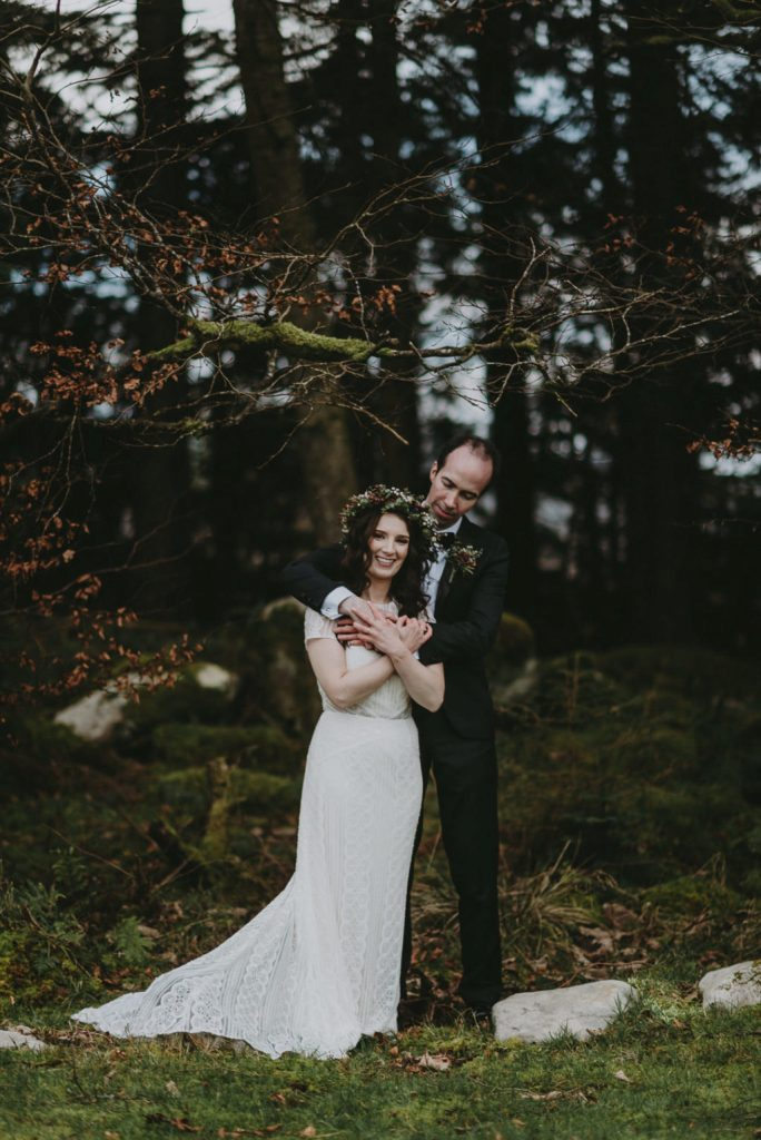 This cozy and elegant winter wedding took place at Markree Castle and was done with burgundy tones