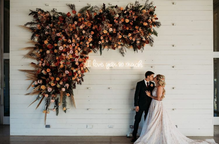 This lovely lush floral wedding was a fall one, so it was filled with bold autumn inspired shades