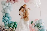 01 This wedding shoot was all dreamy, and celestial theme that is usually dark is rocked in pastel shades