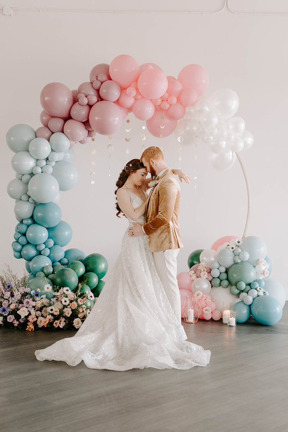 This wedding shoot was all dreamy, and celestial theme that is usually dark is rocked in pastel shades