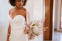 02 The wedding bouquet was done with king protea that is so much loved by the bride