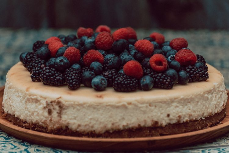a cheesecake is a perfect diy solution for a pandemic wedding