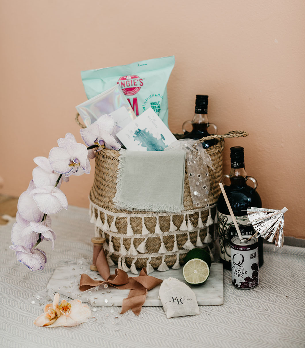 Each guest was welcomed with a gift basket with everything you may need in tropics