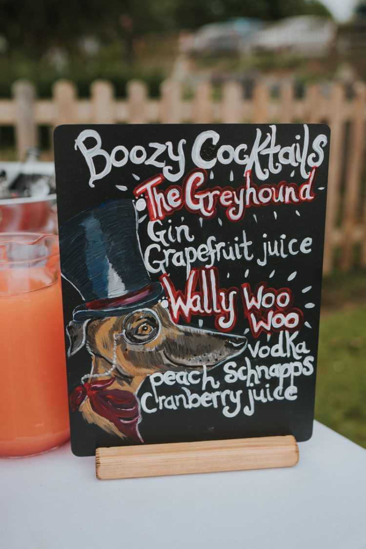 The cocktails were dog-themed