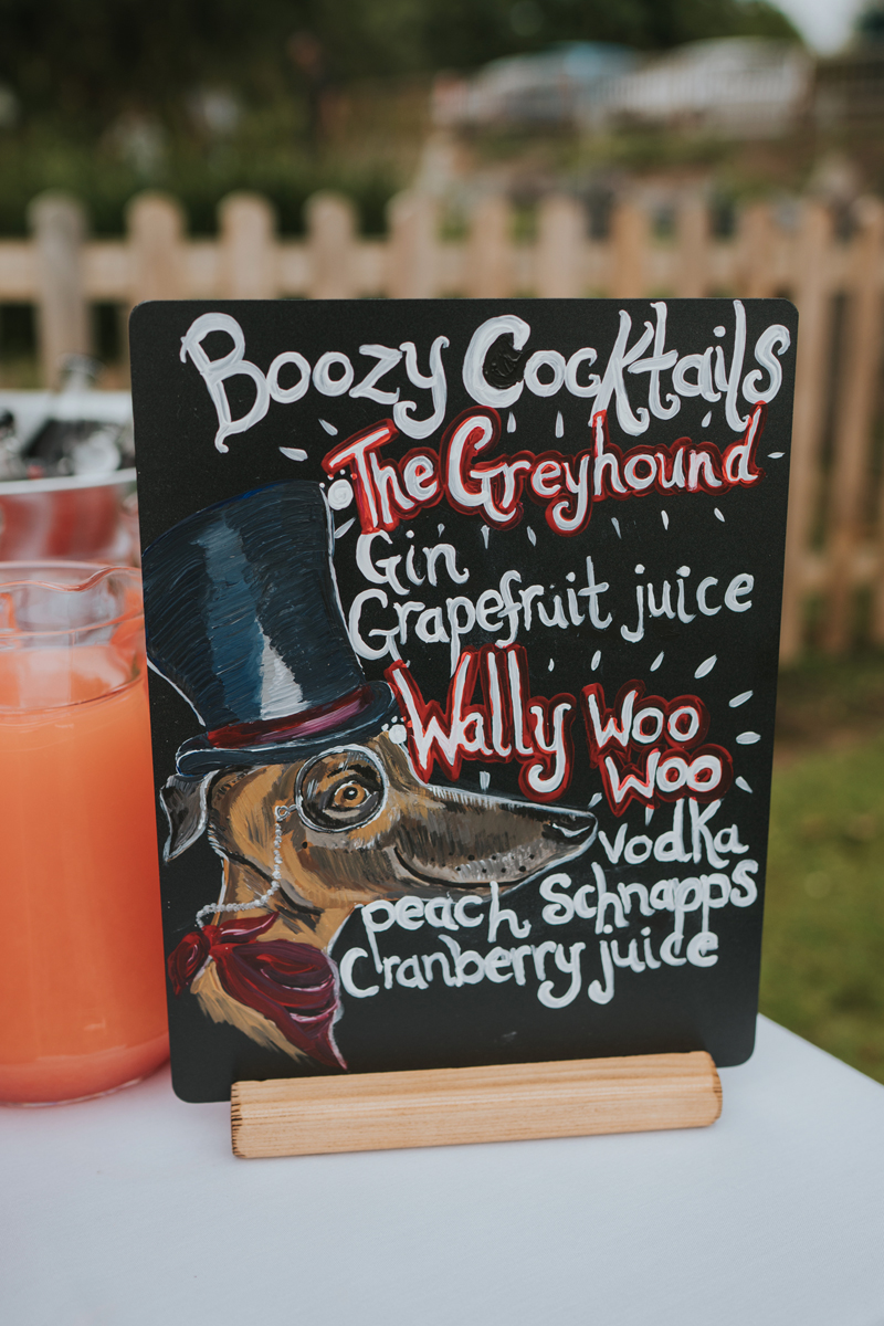 The cocktails were dog themed