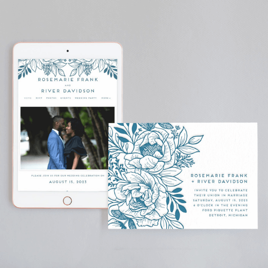go for a wedding invitation and a wedding website where you'll put all the information about the measures and rules