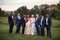 04 The groomsmen were dressed into navy suits and white shirts plus burgundy hats that are also traditional