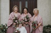 06 The bridesmaids were wearing dusty pink maxi dresses and cozy coverups, the flower girl was wearing all-white