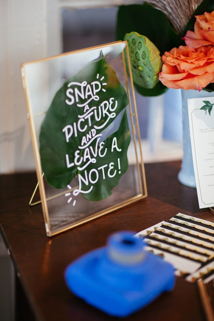 acrylic stationary is a nice choice for a modern wedding