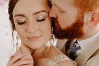 07 The bride was rocking celestial earrings