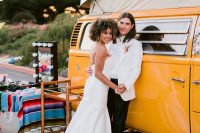 08 The couple rocked a 70s van and lots of colorful props for fun