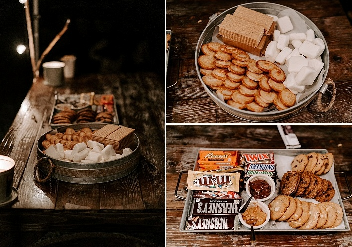 There was a s'mores bar, too, to enjoy a homey dessert
