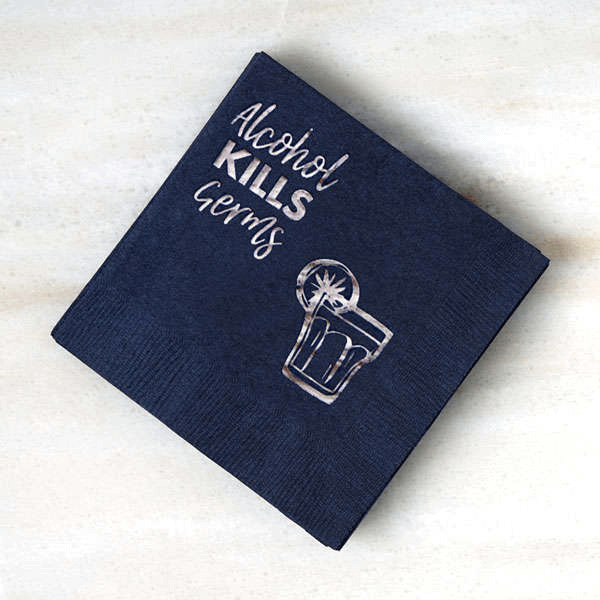 include cool personalized napkins into your wedding decor and bar styling