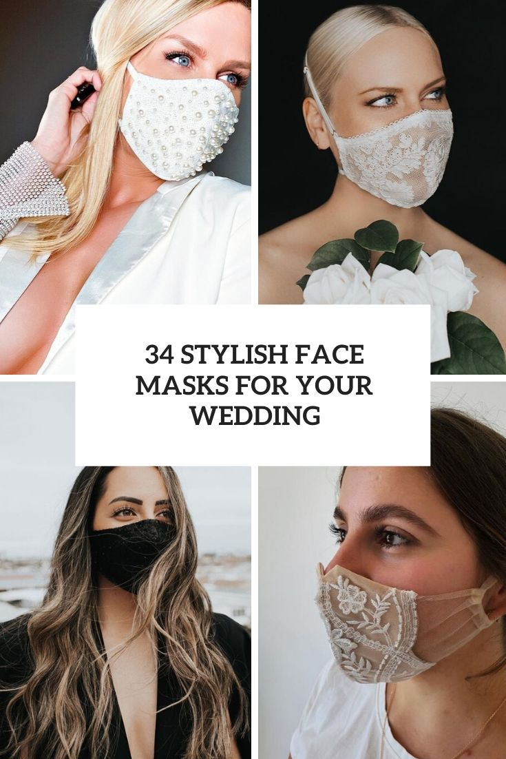 stylish face masks for your wedding cover