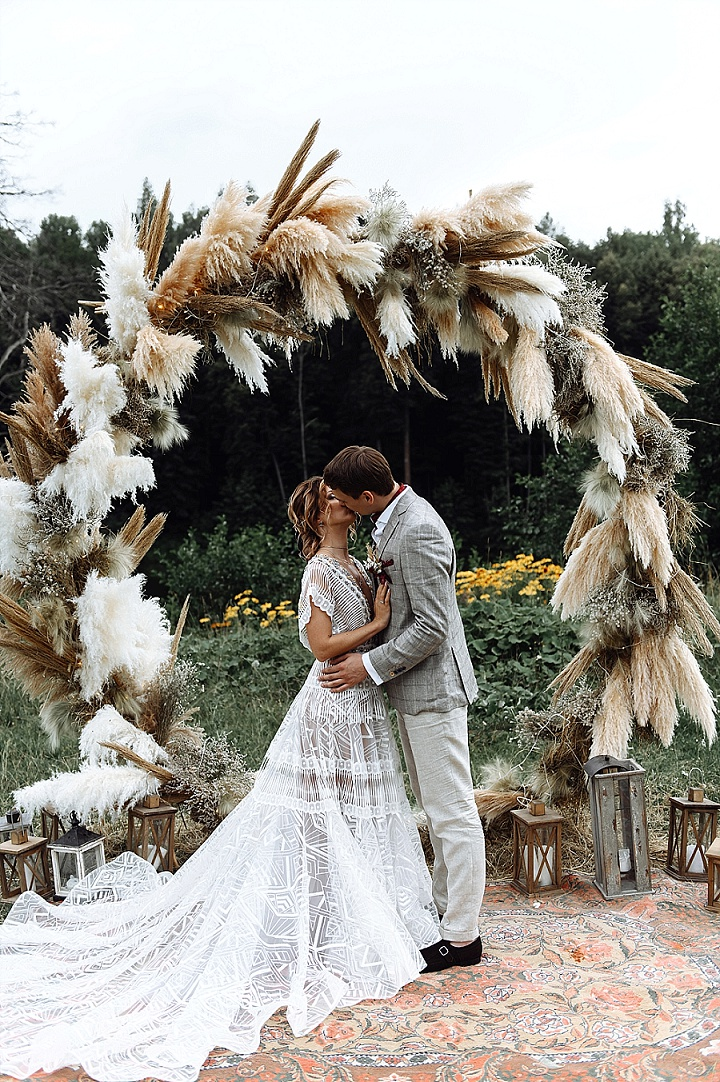 Summer Outdoor Boho Wedding In Russia