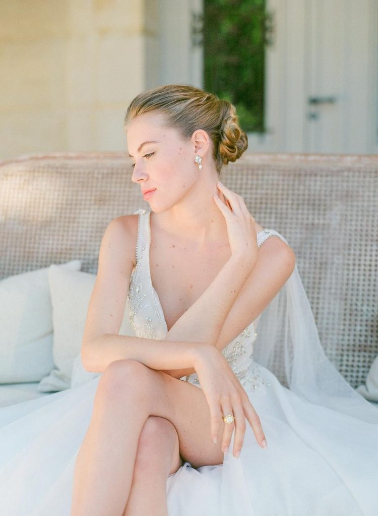 a cool updo is a perfect hairstyle for a bride