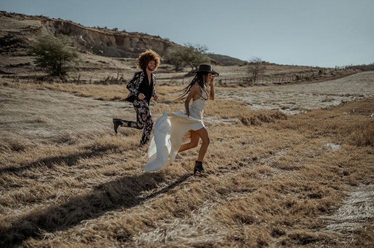 The vase valleys became a perfect free-spirited backdrop for the wedding shoot
