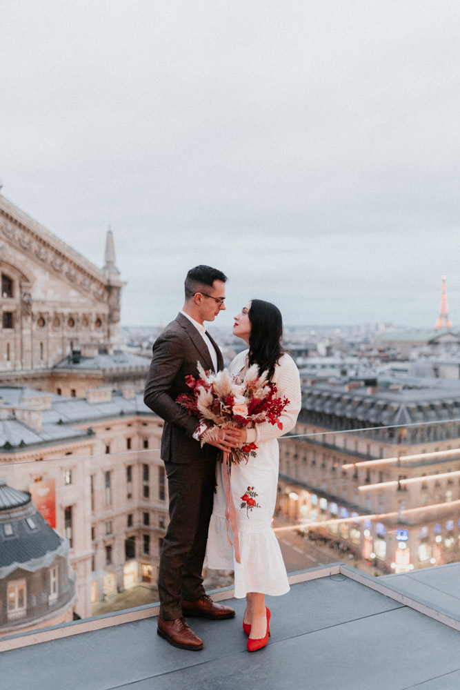 Paris roofs are a fantastic place to end a wedding day