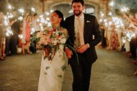 11 What a gorgeous and cozy wedding filled with blooms